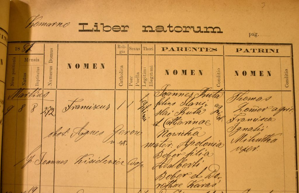 Baptism - 1881 - March 8th - Franciszek Kuta - Komarno