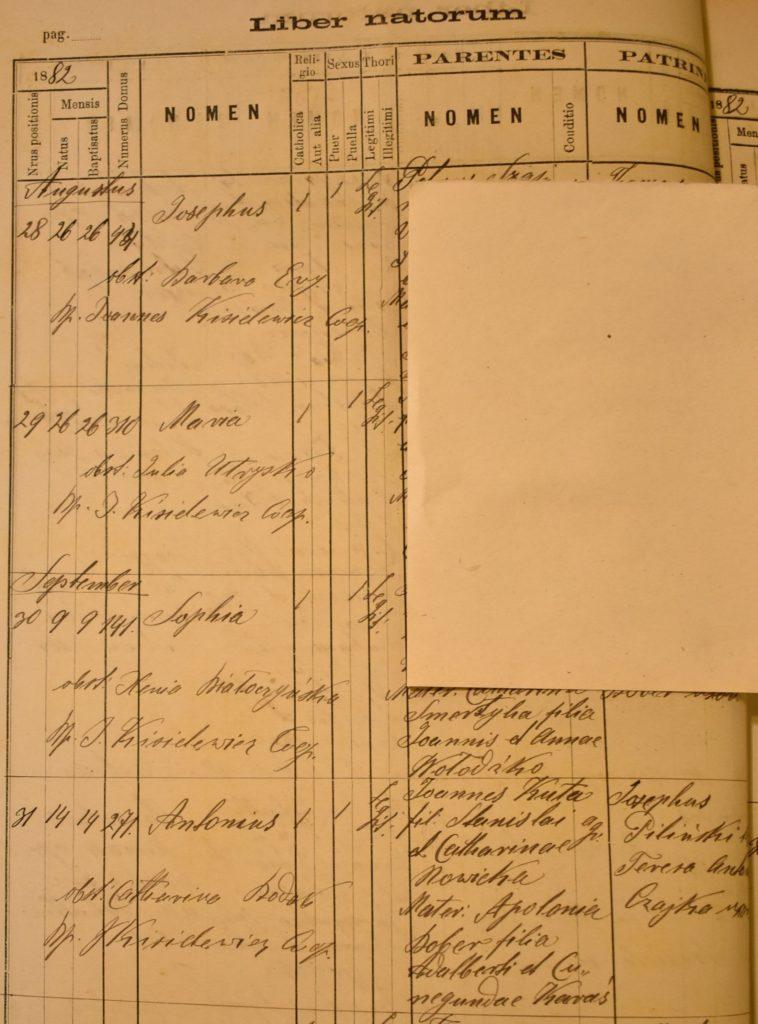 Baptism - 1882 - Sep 14th - Antoni Kuta - Full Page - Komarno