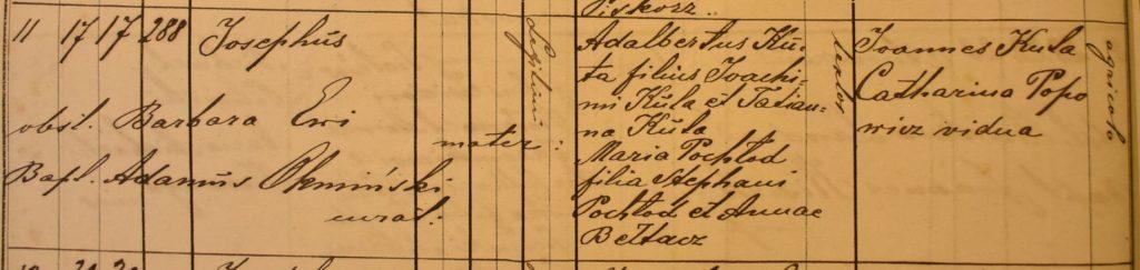 Birth - 1883 Mar 17th - Józef Kuta - Komarno