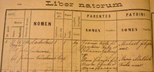 Birth - 1885 - Apr 21st - Władysław Kuta - Komarno