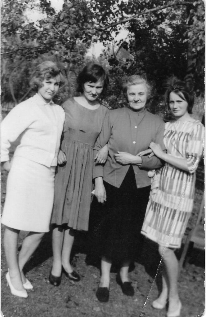 Katarzyna Kuta (Nee: RACZYNSKA) with her three daughters. (left to right) Stefania Kuta, Zofia Kuta, Katarzyna Kuta and Anna Kuta. Katarzyna is my great-grandmother.
