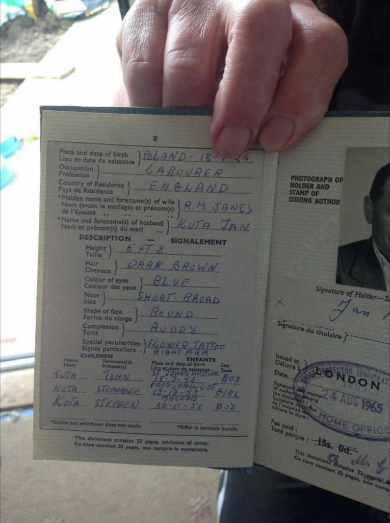 Jan Kuta / Official Travel Documents Jan is my grandfather