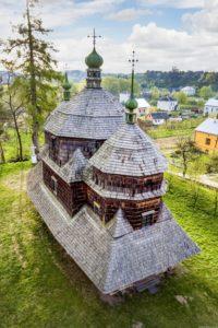 St. Michael Church (1754) in Komarno, Lviv region, Ukraine