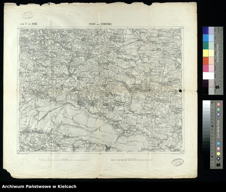 Map of Komarno 1877